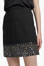 French Connection Deja Sequin Mini Skirt Size UK 8 LF171 NN 03