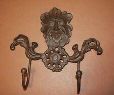 (1) Gargoyle Wall Hook Cast Iron 9 inches, Forest Leaf Man Gargoyle, H-94