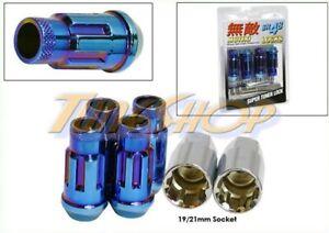 MUTEKI SR48 4 WHEELS LOCK LUG NUTS SET 12X1.5 1.5 ACORN RIMS OPEN END NEO-BLUE M