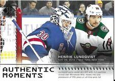 19-20 2019-20 SP Authentic Henrik Lundqvist Moments INSERT #116-Rangers