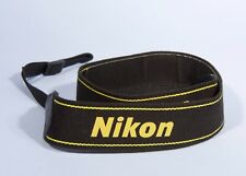 Nikon Shoulder Strap Yellow-Black DSLR SLR * Genuine Nikon * Excellent Condition