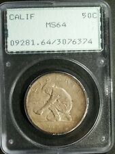 1925-S California Commemorative Silver Half $ - MS64 (PCGS, OGH)   stk#6374