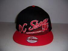 New Era 9fifty DC Shoes Men's Black & Red Snapback Baseball Hat Cap NEW!