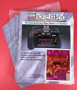 Nishika N8000 original 3D Photo w/ Camera Brochure Dealer Promo Poster Ad nimslo