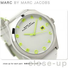 MARC BY MARC JACOBS MBM1247 HENRY Silver White Dial Leather Band Women's Watch