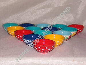 THE PIONEER WOMAN Dipping Condiment Bowl Set of 4 You Choose Color
