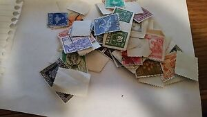 Canceled Postage Stamps foreign mixed  lot of 88