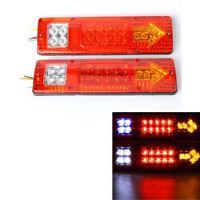 2x 19 LED Rückleuchten Anhänger LKW Rücklicht Bremslicht Wohnwagen Heckleuchten