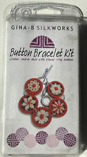 Gina B Silkworks Button Bracelet Kit Floral Brand New