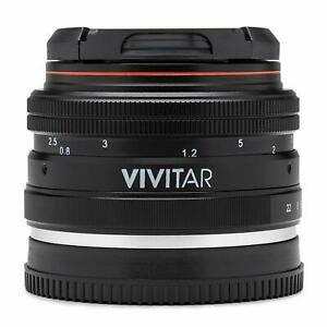 Vivitar 50mm f/2.0 Lens for Sony E Mount Mirrorless Digital Camera