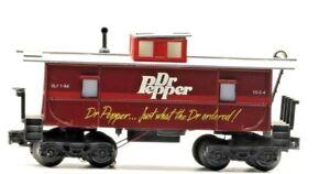 Vintage K-Line Dr Pepper 10-2-4 Illuminated Caboose Red