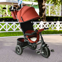 HOMCOM Kids Tricycle Children Ride on 3 Wheels Toddler Canopy w/ Handle