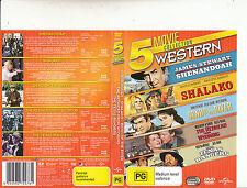 Shenandoah-1965/Shalako 1968/Plus 3 more-5 Western Movies-[5 Disc Set]-DVD