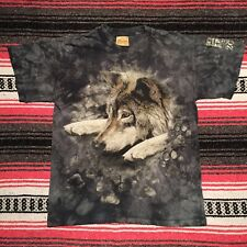 Vintage The Mountain Wolf T Shirt Men's Medium Cleveland Zoo Tie Dye Marble