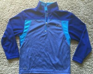 Boys Blue 1/4 Zip Long Sleeve Champion Top XS 4/5