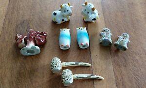 5 SETS of Vintage Salt and pepper sets .. 3 Ceramic and 2 plastic