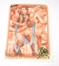 Leigh Matthews (Hawthorn FC) signed VFL/AFL Hall of Fame Card + COA