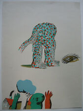 Horst Antes (1936) Kopffüßler Orig Farblithografie 5/30 signiert 1900 informel