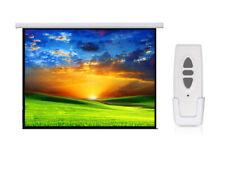 """Proyector de pantalla de proyección eléctrica 100"""" 4:3 Matt Pared Techo Control Remoto 200x150"""