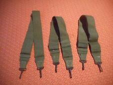 U.S. ARMY:  WWII X 3 GREEN CARGO STRAPS WWII   nice