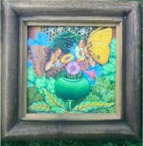 Haitian Art original Michel-Ange Altidort Painting - Butterfly People