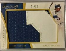 2017 Immaculate Collection Jumbo Gold HANLEY RAMIREZ Jersey Number /10