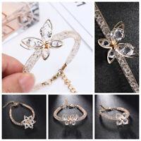 von Handschellen Armband aus Kristall Knallen Geometrisch Schmetterling