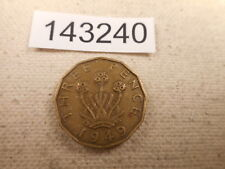 1949 Great Britain Three Pence - Nice Low Mintage Collector Coin - # 143240