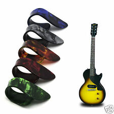 Multicolor Celluloid Thumb Finger Guitar Pick Nail Picking Finger Protect Cover