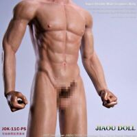 JIAOU DOLL 1:6 Scale Male Detachable Foot Body Flexible Muscle Man Figure Toys