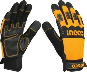 Ingco Mechanic Gloves with PU Leather XL