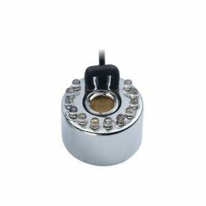 Ultrasonic Mist Maker Outdoor Fogger Fountain Atomizer Air Humidifier Zinc 12LED