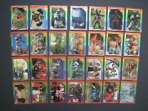 POWER RANGERS FOIL CARDS Your Pick Finish your Set Purple Backs 1994 Saban