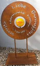 Gedichttafel Liebe Glück Garten Schild Metall Edelrost Schild Standdeko Rost