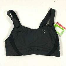 Moving Comfort Sports Bra Jubralee High Impact Adjustable Straps Black Size 32C