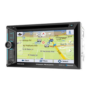 "Power Acoustik PDN-623B Double 2 DIN CD/DVD Player 6.2"" GPS Navigation Bluetooth"