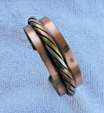 Vintage 1970s Copper and Other Metals CUFF Bracelet
