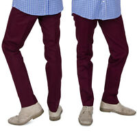 Relco Men's Sta Press Burgundy Mods Stay Pressed Skinheads Vintage Mod Trousers