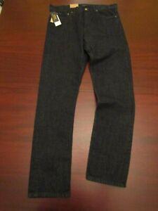 mens polo ralph lauren prospect straight stretch jeans 36x38 nwt $98.50 dark