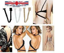 Low Back Backless Bra Strap Converter Adjustable Extender for Summer Dress 3pcs