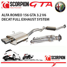 Alfa Romeo 156 GTA Berlina-Scorpion euro Performance Exhaust De Acero Inoxidable