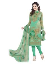 Unstitched Asian Shalwar Kameez Indian Pakistani Synthetic Crepe Ethnic Suit