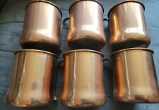 Vintage CopperCraft Guild Copper Moscow Mule Mugs Cups Brass Handle Set of 6