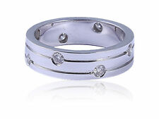 0.30 Cts Round Brilliant Cut Diamonds Anniversary Ring In Fine Hallmark 14K Gold