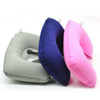 Inflatable U Shape Travel Pillow Head Neck Rest Air Cushion for Car Flight Home