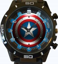 Captain America Sheild New Gt Series Sports Unisex Gift Wrist Watch
