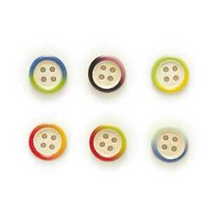 50pcs Color Pattern Wood Buttons for Sewing Scrapbooking Home Making Decor 15mm