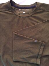 White Sierra Long Sleeve Men's Shirt - Large - Mossy Green Color