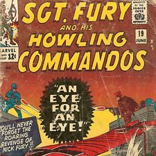 1965 Marvel Comic # 19 ~ Sgt Nick Fury & His Howling Commandos ~ Silver Age