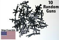 LEGO Guns Lot of 10 Military Army SWAT Assault Rifle Sniper Shotgun Machine Toy